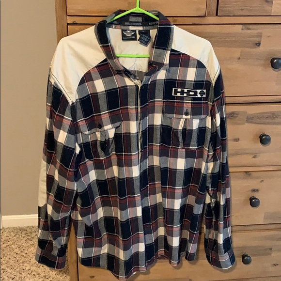 Harley-Davidson Other - Men's XL Harley Davidson flannel button up